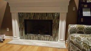 Mosaic tile surround - Indianapolis interior design services