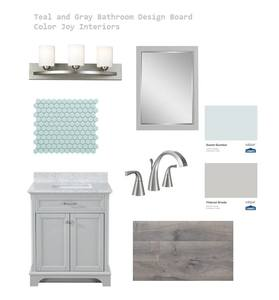 virtual design services - Color Joy Interiors - Design board