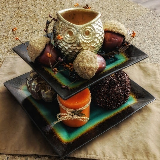 Kitchen mini fall styled tray