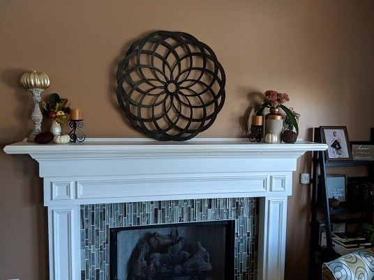 Fall fireplace mantel decorations