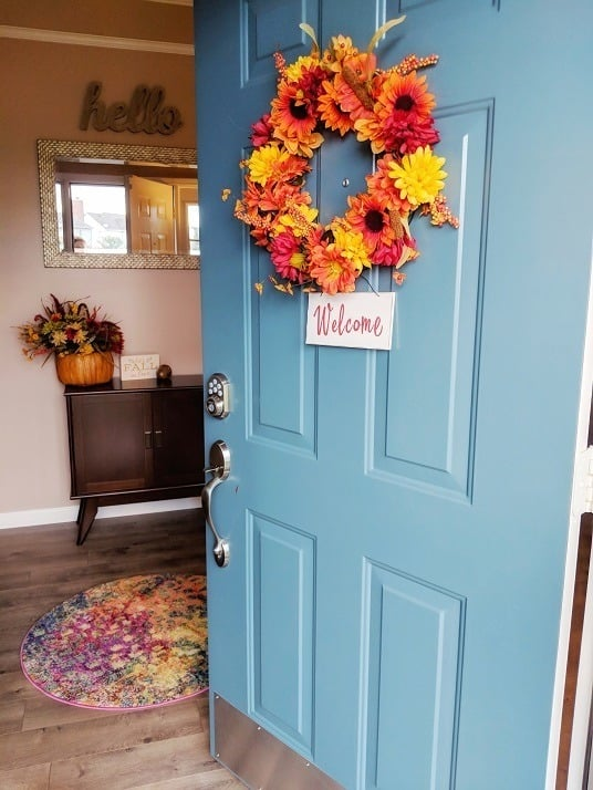 front door wreath for fall