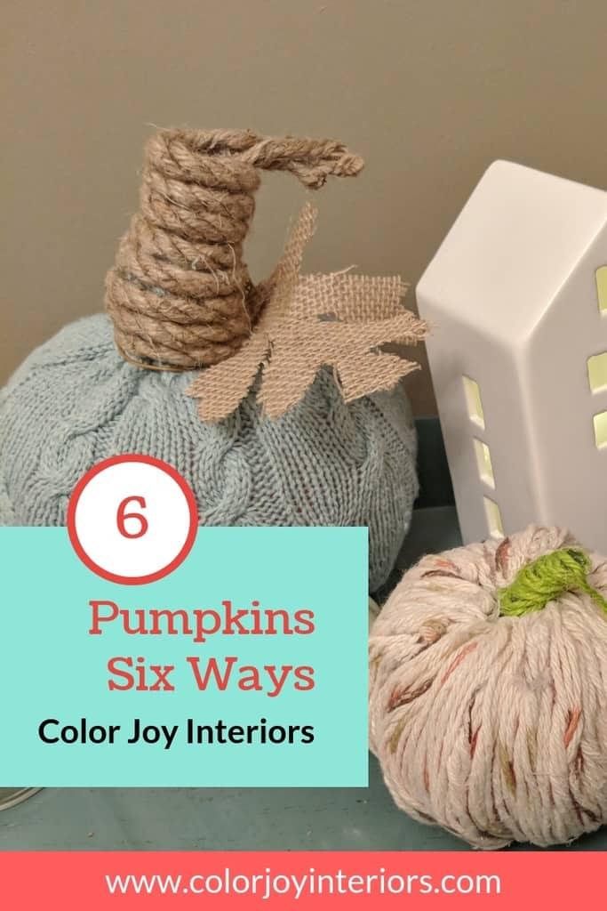 6 Ways to decorate a mini pumpkin