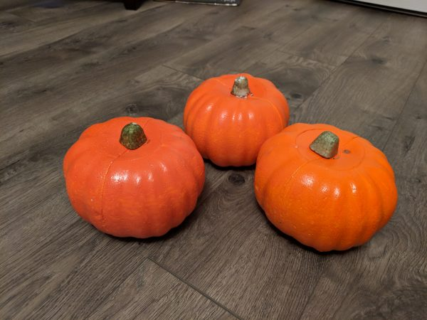 mini pumpkin decorating with dollar tree pumpkins