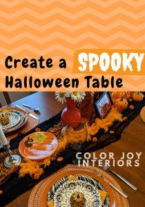 Halloween Table orange and black