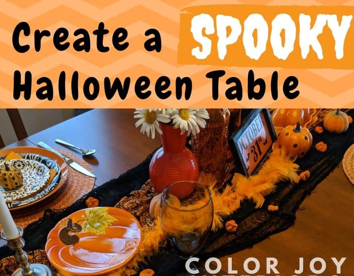 Halloween Table orange and black