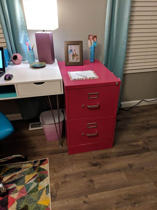DIY painted file cabinet