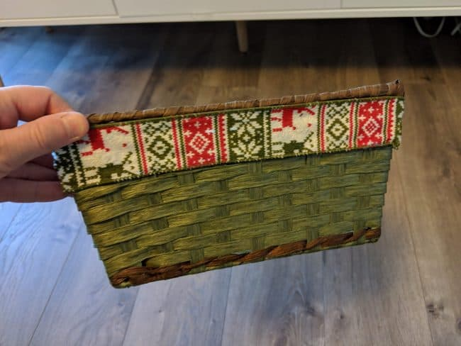 storage basket - Christmas decor