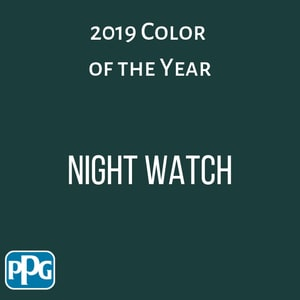 2019 home color trends - color of the year - Night Watch