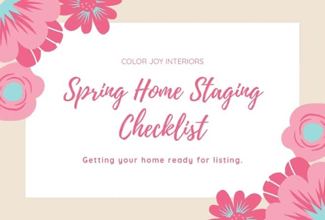 Spring Home Staging Checklist - Indianapolis home staging