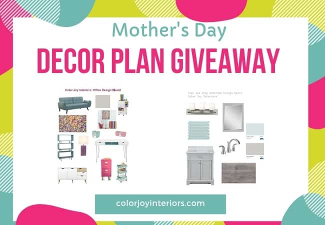 mothers day decor plan giveaway