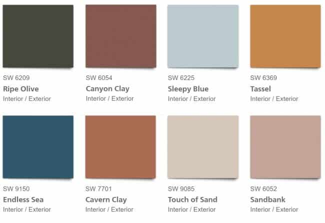 Sherwin Williams 2020 ALIVE color palette