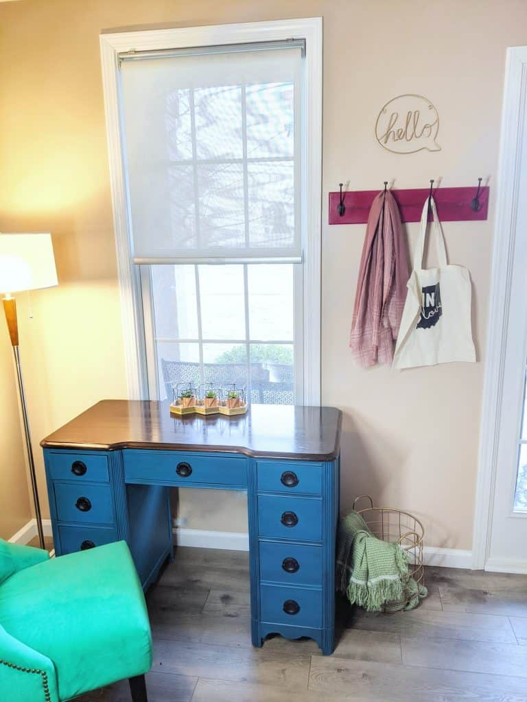 vintage desk makeover - Dixie Belle Peacock