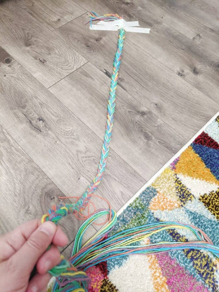 colorful braided yarn trim for lampshade