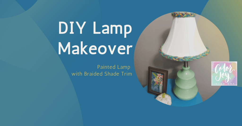 DIY Lamp Makeover - Colorful Lamp