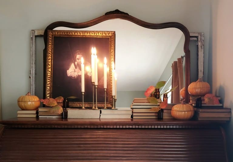 Thrifted Fall Mantel